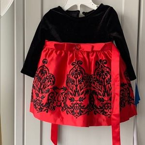 Baby holiday dress velvet and tulle skirt 6-9mos